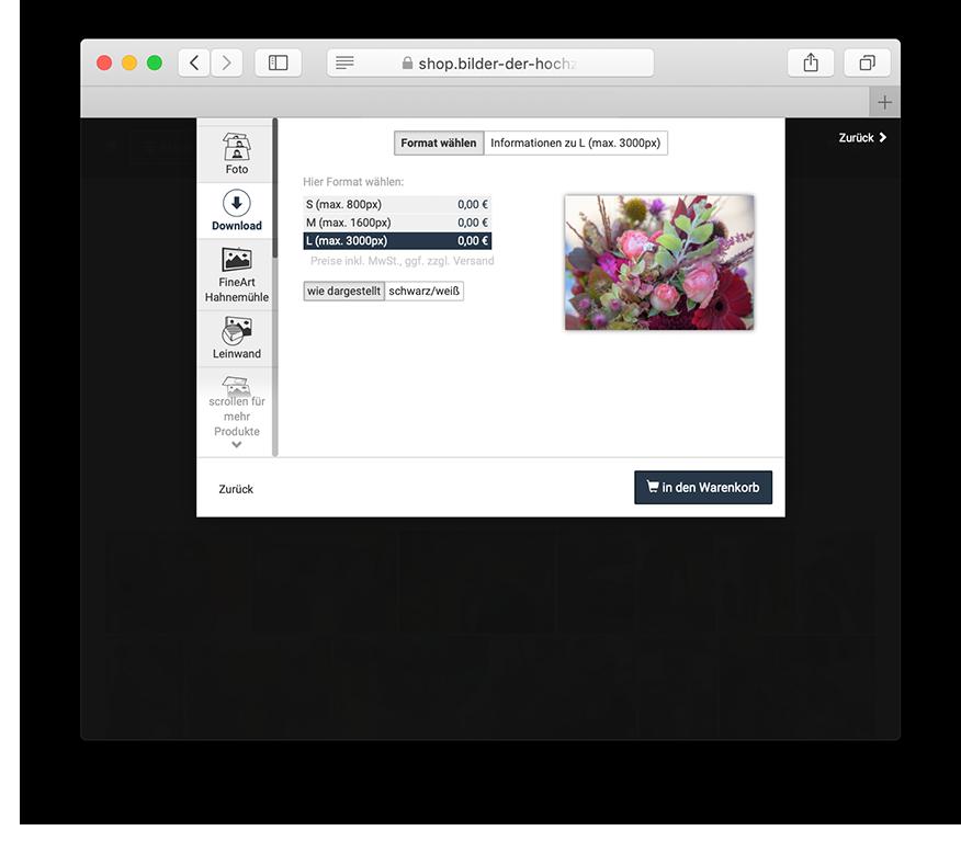 Onlinegalerie zum Anschauen und Bestellen